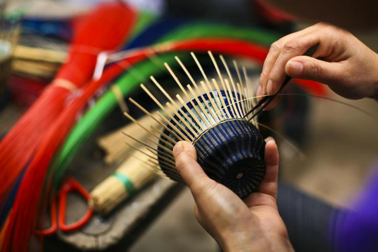 材料的准备:编织