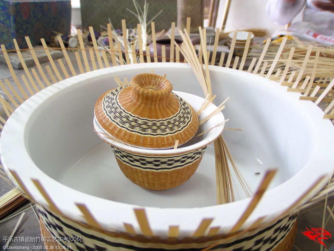 中国文化旅游网平乐古镇瓷胎竹编实考